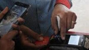 Student duped on pretext of updating debit card details(Photo by Sunil Ghosh / Hindustan Times)