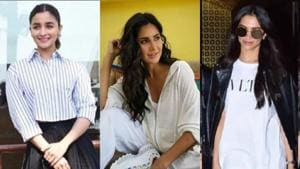 Alia Bhatt, Deepika Padukone, Katrina Kaif show you how to style sneakers with dresses and Indian wear. Get the look