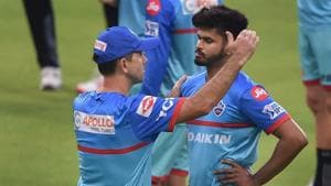 Kolkata: DC head Coach Ricky Ponting with captain Shreyas Iyer during a training session of their teams ahead of the Indian Premier League 2019 (IPL T20) cricket match between Kolkata Knight Riders (KKR) and Delhi Capitals (DC) at Eden Garden, in Kolkata,Thursday,April 11,2019).(PTI)