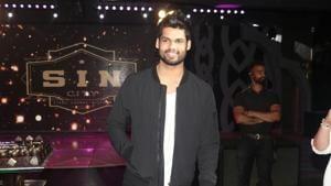 Karan Kapadia at the wrap-up party of his debut film Blank in Mumbai, on April 12.(IANS)