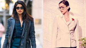 Priyanka Chopra and Sonam Kapoor show you exactly how to wear a skirt suit. See latest pics