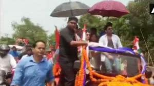 The Home Ministry has sought a report from Foreigners Regional Registration Office on Bangladeshi actor Ferdous campaigning in West Bengal, reports ANI.(ANI Photo)