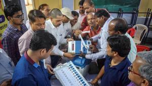 One area in which there has been progress rather than regress is in the counting of votes. With electronic voting machines (EVMs) in place, it is no longer so easy to manipulate ballots and ballot boxes(PTI)