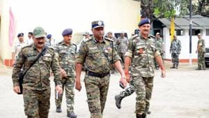 The Election Commission on Wednesday said there would be sufficient number of central forces as also state police for the second phase of Lok Sabha polls in West Bengal on Thursday.(HT Photo)