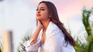 Sonakshi Sinha stuns in a powder blue pantsuit. See latest pics