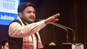 Hardik Patel, who led the Patidar reservation stir in Gujarat since 2015 and joined the Congress last month, has emerged as a star campaigner for the opposition party, criss- crossing the state in a helicopter to address poll rallies.(PTI file photo)