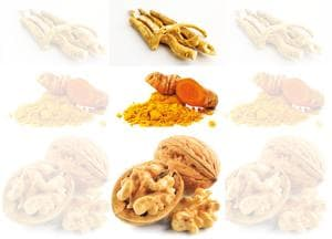 Foods like ashwagandha, turmeric and walnuts help improve mental well-being(Shutterstock)