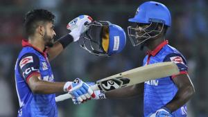 Dhawan, Iyer fifties take Delhi Capitals home after another Gayle blitz
