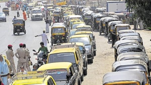 The suburban district collector has asked for 2,985 vehicles, including 1,466 taxis, 1,434 buses, and 85 trucks.(HT Photo)