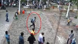 Watch: Exact moment suicide bomber enters Sri Lanka's St Sebastian church