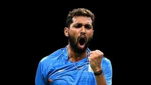 H S Prannoy of India.(Getty Images)