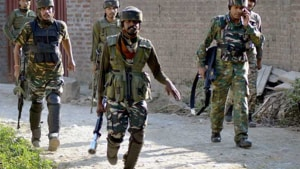 Incriminating material, including arms and ammunition, was recovered from the site of encounter.(PTI FILE)