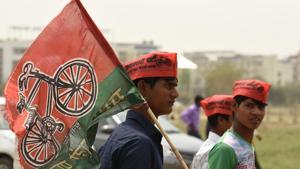 Samajwadi Party is one of the few recognised regional political parties in Uttar Pradesh.(Virendra Singh Gosain/HT PHOTO)