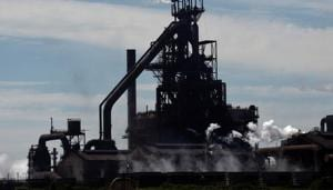 The Tata steelworks are seen in Port Talbot, Wales, June 30, 2018.(REUTERS)