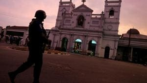 A security officer guards outside St. Anthony's Shrine, days after a string of suicide bomb attacks on churches and luxury hotels across the island on Easter Sunday, in Colombo, Sri Lanka April 26, 2019.(REUTERS FILE PHOTO)