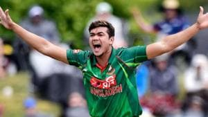 Taskin Ahmed was not included in Bangladesh's World Cup squad but now he has been called up as a cover for the tri-nation series in Ireland.(ICC)