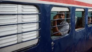 The incident took place on the Kota-bina stretch around 4pm on Friday when a 32-year-old man, Rajendra, who was mentally ill, jumped from the train and in order to save Verma, his brother Vinod also jumped from the train.(HT file photo)
