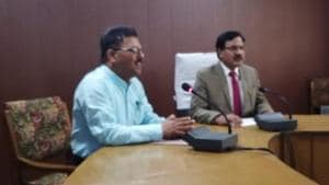 HPBOSE HP 10th result 2019 LIVE Updates: Secretary Harish Gajju and Chairman addressing press conference(HT)