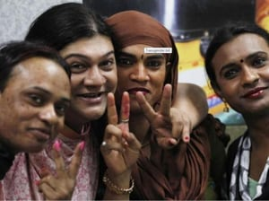 Anjan Joshi, of NGO SPACE, said that most of the transgender voters are still male or female in their documents.(HT Photo)