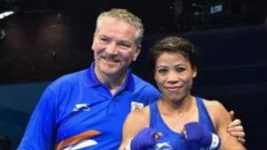 India women's boxing Performance Director Raffaele Bergamasco with MC Mary Kom (File Photo)(BFI)