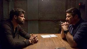 Blank movie review: Karan Kapadia and Sunny Deol in a still from the film.