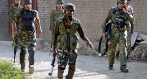 A soldier of the Indian Army was injured in this joint operation carried out by the Rashtriya Rifles (RR), special operations group (SOG) of state police and the Central Reserve Police Force (CRPF).(PTI FILE)