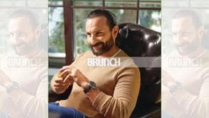 At 48, actor Saif Ali Khan looks more content than ever! Styling by Mohit Rai; Make-up: Neelesh Kothavale Hair: Sagar Rahurkar; T-shirt, Zara; watch, IWC Schaffhausen at Art of Time(Brahms Dirsipo)