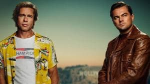 The first look of Brad Pitt and Leonardo DiCaprio from Once Upon a Time in Hollywood.