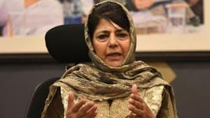 Peoples Democratic Party (PDP) president and former chief minister of Jammu Kashmir, Mehbooba Mufti(HT file photo)