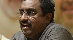 haratiya Janata Party's national general secretary Ram Madhav(HT Photo)
