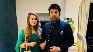 Kapil Sharma with wife Ginni Chatrath.