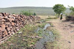 A village inside Mukundra Hills Tiger reserve in Jhalawar, Rajasthan.(HT Photo)