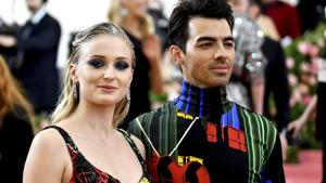 Sophie Turner, left, and Joe Jonas attend The Metropolitan Museum of Art's Costume Institute benefit gala celebrating the opening of the