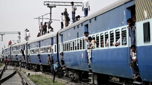 India has one of the biggest railway networks, which transports an estimated 23 million people daily.(HT Photo)