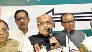 JD(U) general secretary K C Tyagi has said his party would raise the issue of special status once again if the party won 15 or more seats in the ongoing Lok Sabha elections.(Santosh Kumar / HT Photo)