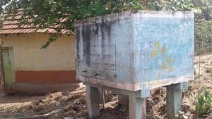 A non functional tank in the village.(Koushik Dutta/HT Photo)