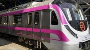 On May 12, Delhi Metro will run with a frequency of 30 minutes on all the lines till 6 am.(PTI/File Photo)