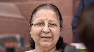 File photo of Lok Sabha Speaker Sumitra Mahajan. ( Photo by Sonu Mehta/Hindustan Times)(Sonu Mehta/HT PHOTO)