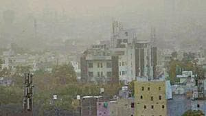 The Air Quality Index (AQI) reading in the city on Saturday stood at 232 as per the Central Pollution Control Board's (CPCB) AQI bulletin, down from 294 the previous day.