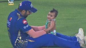 Mumbai Indians skipper Rohit Sharma celebrates 4th IPL title with daughter Samaira