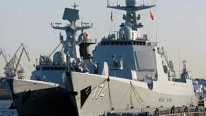 Two Type 052D guided missile destroyers were launched last Friday in China's Dalian, a coastal city, state-run Global Times reported.(Representative Image/AFP File Photo)