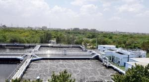 The Noida authority is already reusing treated water from five STPS.(Sunil Ghosh / HT Photo)