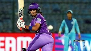 Velocity player Veda Krishnamurthy bats during the Women T20 Challenge final match.(PTI)