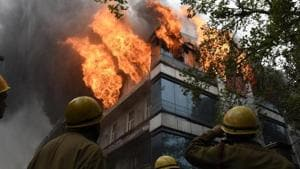 Garg said that the team realised that at least 15-18 people are trapped in the building, and therefore called for additional manpower.(Sanchit Khanna/HT PHOTO)