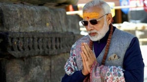 Congress leader and Rajasthan CM Ashok Gehlot also attacked the PM for meditating in Kedarnath, wondering what message he wants to give now.(HT Photo)