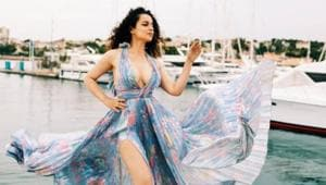 Kangana Ranaut poses for the camera in Cannes.(Instagram)