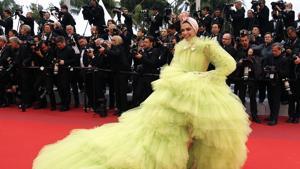 Deepika Padukone walks the red carpet at 72nd Cannes Film Festival.(REUTERS)