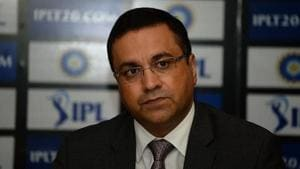 The Board of Control for Cricket in India (BCCI) CEO Rahul Johri looks on as he speaks during a press conference in New Delhi.(AFP/Getty Images)