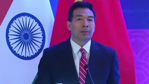 """The India-China relationship is important for both countries and the leadership of the two sides had reached consensus on ensuring that ties """"continue to move in a healthy and stable direction"""", Luo said.(HT Photo)"""