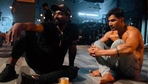 Varun Dhawan shared two pictures from Street Dancer 3D sets.(Instagram)